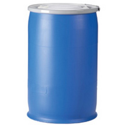 30 Gallon New Open Head Plastic Drum, available in natural, blue and black