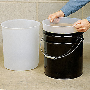 Rigid Plastic Drum Liners - Accordion LDPE - 30 Gallon